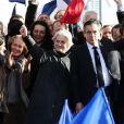 François Fillon et sa femme Penelope - Rassemblement de soutien à François Fillon, candidat du parti Les Républicains à la présidentielle, Place du trocadéro à Paris le 5 mars 2017