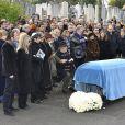 Obsèques de Claude Berri, au cimetière juif de Bagneux, le 15 janvier 2009.
