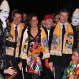 Stéphanie de Monaco (avec Christian Estrosi et David Coulthard) au festival du cirque de Monte-Carlo