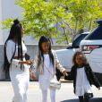 Melanie Brown (Mel B) va faire du shopping chez Rite Aid avec ses filles Madison et Angel à Beverly Hills, le 8 avril 2017