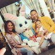 Chrissy Teigen, John Legend et leur fille Luna fêtent Pâques. Avril 2017.