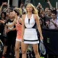 Rafael Nadal et Maria Sharapova à New York. Le 24 août 2015.