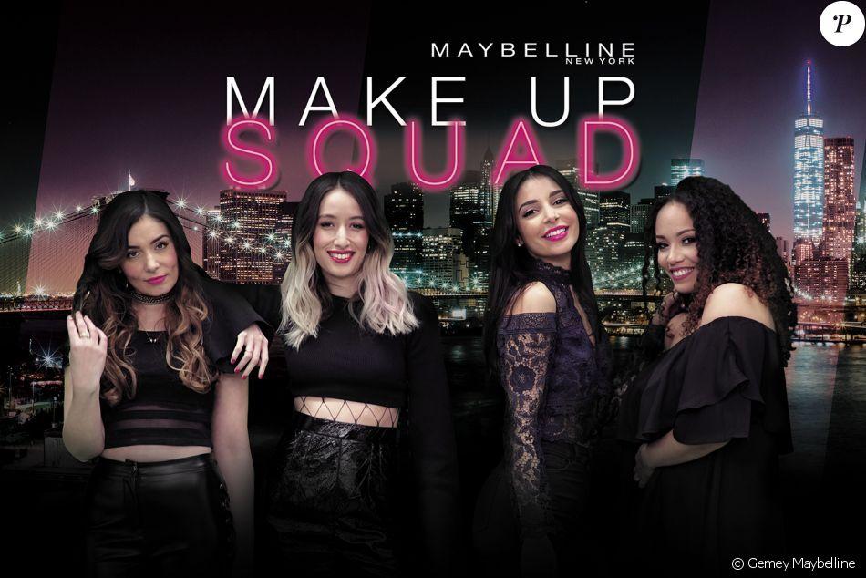 Maybelline présente la MakeUp Squad, formée par Sananas, Alex Closet, Amivi et Peek a Booo.