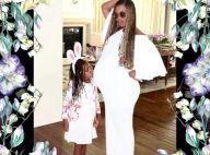 Beyonce enceinte de jumeaux : Sa petite Blue Ivy fan de son ventre rond