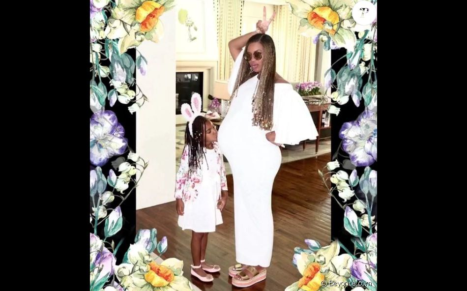 Beyoncé, enceinte de jumeaux, dévoile des photos de sa célébration de Pâques en famille, avec sa BFF Kelly Rowland.