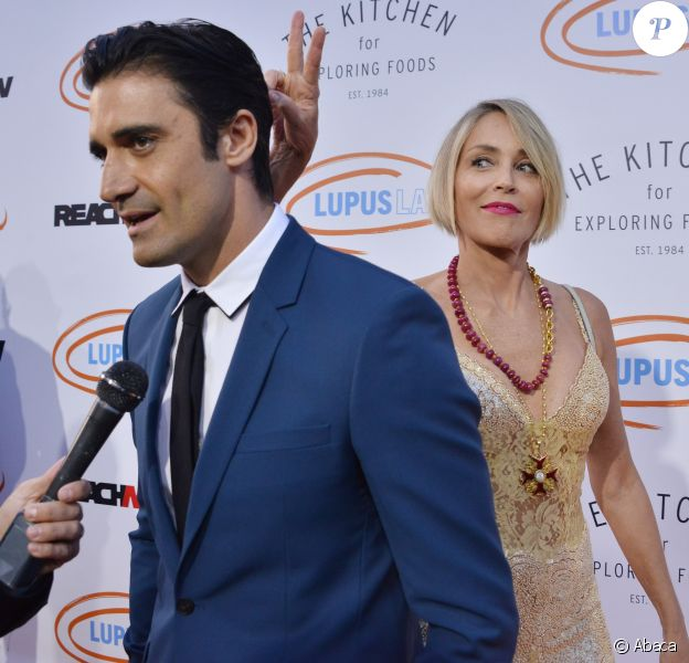 "Gilles Marini et Sharon Stone - Soirée caritative ""Lupus LA's 2017 Orange Ball: Rocket To A Cure Gala"" à Los Angeles le 22 avril 2017."