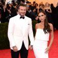 "David Beckham et sa femme Victoria Beckham - Soirée du Met Ball / Costume Institute Gala 2014: ""Charles James: Beyond Fashion"" à New York, le 5 mai 2014."