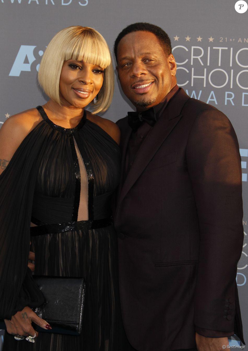 """Mary J. Blige et son mari Kendu Isaacs lors du 21ème gala annuel des """"Critics' choice Awards"""" à Santa Monica, le 18 janvier 2016."""