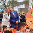 Le roi Willem-Alexander et la reine Maxima des Pays-Bas lors des King Games 2017 à Veghel. Le 21 avril 2017 21/04/2017 - Veghel