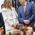 Le roi Willem-Alexander et la reine Maxima des Pays-Bas lors des King Games 2017 à Veghel le 21 avril 2017. 22/04/2017 - Veghel