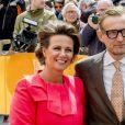 Le prince Bernhard et la princesse Annette lors des célébrations publiques du 50e anniversaire du roi Willem-Alexander des Pays-Bas le 27 avril 2017 à Tilburg, dans le sud du pays.