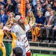 Le roi Willem-Alexander des Pays-Bas fêtait en famille et en public, entouré notamment de sa femme la reine Maxima et leurs filles les princesses Catharina-Amalia, Alexia et Ariane, son 50e anniversaire le 27 avril 2017 à l'occasion de grandes célébrations à Tilburg, dans le sud du pays.