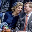 Le roi Willem-Alexander des Pays-Bas fêtait en famille et en public, ici avec sa femme la reine Maxima, son 50e anniversaire le 27 avril 2017 à l'occasion de grandes célébrations à Tilburg, dans le sud du pays.
