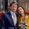 Le prince Pieter-Christiaan et la princesse Anita lors des célébrations publiques du 50e anniversaire du roi Willem-Alexander des Pays-Bas le 27 avril 2017 à Tilburg, dans le sud du pays.