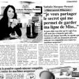 Nathalie Marquay-Pernaut partage son secret minceur, le Mincicaps, dans un publi-communiqué (avril 2017).