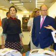 Semi-Exclusif - La princesse Caroline de Hanovre et le prince Albert II de Monaco prenaient part à l'inauguration de l'exposition artmonte-carlo à Monaco le 28 avril 2017 © Claudia Albuquerque / Bestimage