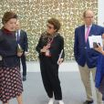 Semi-Exclusif - Le prince Albert II de Monaco, la princesse Caroline de Hanovre et Marie-Claude Beaud lors de l'inauguration de l'exposition artmonte-carlo à Monaco le 28 avril 2017 © Claudia Albuquerque / Bestimage