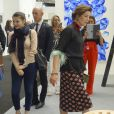 Semi-Exclusif - La princesse Caroline de Hanovre à l'inauguration de l'exposition artmonte-carlo à Monaco le 28 avril 2017 © Claudia Albuquerque / Bestimage