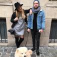 Ma2x et sa chérie Margot Malmaison - Photo publiée sur Twitter en janvier 2017