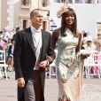 Naomi Campbell et Vladislav Doronin à Monaco, le 2 juillet 2011.