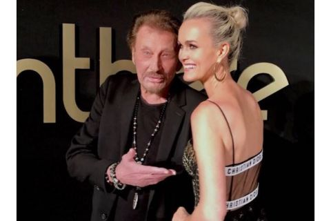 """Johnny Hallyday en forme pour """"une soirée magique"""" avec Laeticia et Alicia Keys"""