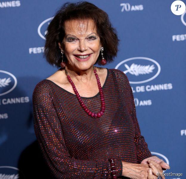 Claudia Cardinale - Soirée à l'occasion des 70 ans du tout premier festival de Cannes à l'école des Beaux Arts à Paris, le 20 Septembre 2016. © Dominique Jacovides/Bestimage