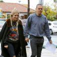 Exclusif - Ashlee Simpson et son mari Evan Ross quittent un restaurant à Sherman Oaks le 12 janvier 2017. E
