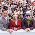Will Smith, Jessica Chastain et Pedro Almodovar, président du jury - Photocall du Jury du 70ème festival de Cannes le 17 mai 2017 © Cyril Moreau / Bestimage