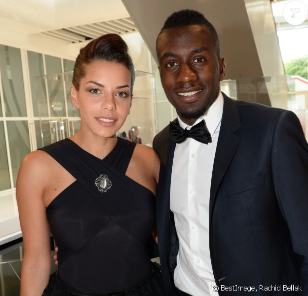 Exclusif - Blaise Matuidi et sa femme Isabelle Malice - Dîner de gala au profit de la Fondation PSG au Parc des Princes à Paris le 16 mai 2017.