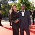 Exclusif  - Zoumana Camara et sa femme Awa - Dîner de gala au profit de la Fondation PSG au Parc des Princes à Paris le 16 mai 2017.