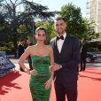 Exclusif - Javier Pastore et sa compagne Chiara Picone - Dîner de gala au profit de la Fondation PSG au Parc des Princes à Paris le 16 mai 2017.