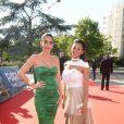 Exclusif - Chiara Picone (compagne de J. Pastore), Deborah Panzokou (compagne de T. Meunier) - Dîner de gala au profit de la Fondation PSG au Parc des Princes à Paris le 16 mai 2017.