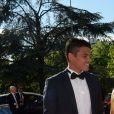 Exclusif - Thiago Silva et sa femme Isabele - Dîner de gala au profit de la Fondation PSG au Parc des Princes à Paris le 16 mai 2017.