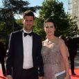 Exclusif - Thiago Motta et sa femme Francisca - Dîner de gala au profit de la Fondation PSG au Parc des Princes à Paris le 16 mai 2017.