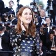 "Julianne Moore (robe Louis Vuitton, bijoux Chopard) - Montée des marches du film ""Okja"" lors du 70e Festival International du Film de Cannes. Le 19 mai 2017. © Borde-Jacovides-Moreau / Bestimage"