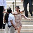 Kendall Jenner et Naomi Campbell à l'hôtel du Cap-Eden-Roc à Antibes, le 22 mai 2017.