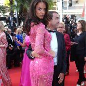 Jade Foret, bonbon tout en transparence à Cannes avec son mari Arnaud Lagardère