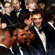 """Buddy Duress, Robert Pattinson - Montée des marches du film """"Good Time"""" lors du 70ème Festival International du Film de Cannes. Le 25 mai 2017. © Borde-Jacovides-Moreau/Bestimage"""