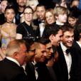 """Buddy Duress, Robert Pattinson, Benny Safdie, Joshua Safdie, Ronald Bronstein - Montée des marches du film """"Good Time"""" lors du 70ème Festival International du Film de Cannes. Le 25 mai 2017. © Borde-Jacovides-Moreau/Bestimage"""
