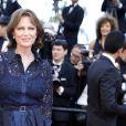 """Jacqueline Bisset - Montée des marches du film """"D'Après une Histoire Vraie"""" lors du 70e Festival International du Film de Cannes. Le 27 mai 2017. © Borde-Jacovides-Moreau / Bestimage"""