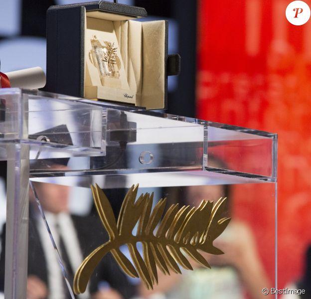 Illustration Palme d'Or - Cérémonie de clôture du 67e Festival du film de Cannes – Cannes le 24 mai 2014.