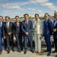 """La princesse Victoria et son mari le prince Daniel de Suède avec La princesse Mary et le prince Frederik de Danemark au """"Liveable Scandinavia"""" à Stockholm le 29 mai 2017"""