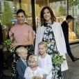 La princesse Victoria de Suède et la princesse Mary de Danemark en visite au magasin Illums Bolighus à Stockholm Stockholm, le 30 mai 2017