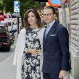 La princesse Mary de Danemark arrive à l'ambassade du Danemark avec le prince Daniel de Suède, à Stockholm, le 30 mai 2017