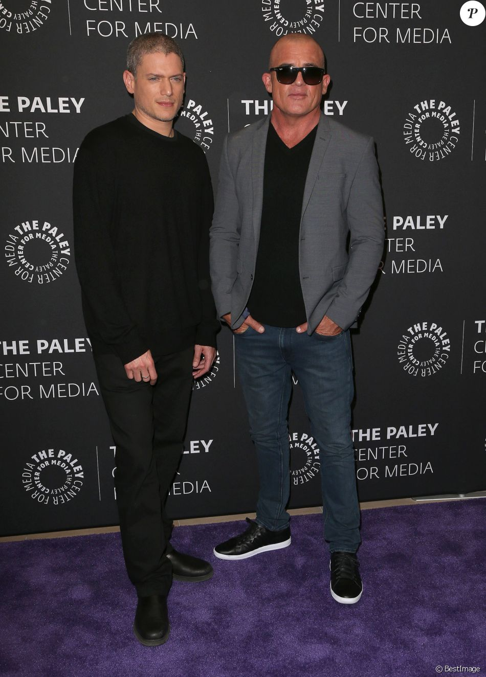 Wentworth Miller, Dominic Purcell à la projection de la nouvelle saison de ''Prison Break'' au Paley Center for Media à Beverly Hills, le 29 mars 2017 © AdMedia via Zuma/Bestimage
