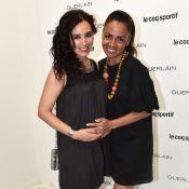 Aïda Touihri, enceinte et radieuse devant Katrina Patchett et son compagnon