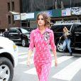 Style 4 : Selena Gomez (en combinaison Miu Miu et sandales Gianvito Rossi) arrive à la station de radio Z100 à New York, le 5 juin 2017.
