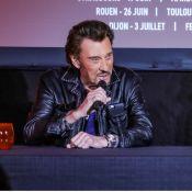 """Johnny Hallyday malade mais ravi d'être en tournée : """"Je vais le mieux possible"""""""