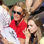 Roland-Garros : Estelle Lefébure et sa fille Emma Smet, spectatrices complices