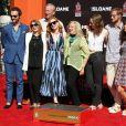 Jessica Chastain avec son compagon Gian Luca Passi de Preposulo et sa mère Jerri Cahstain - Jessica Chastain laisse son empreinte dans le ciment au théâtre TCL Chinese à Hollywood, le 3 novembre 2016
